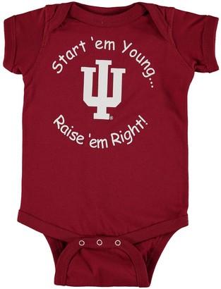 E.m. Unbranded Newborn & Infant Crimson Indiana Hoosiers Start 'Em Young Bodysuit
