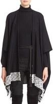 St. John Women's 'Anna' Contrast Trim Texture Knit Wrap
