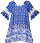 My Michelle mymichelle Peasant Dress (Big Girls)