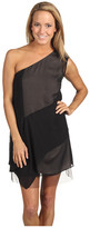 BCBGMAXAZRIA - Marike One Shoulder Silk Dress