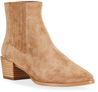 Rag & Bone Rover Pleated Suede High Ankle Boots