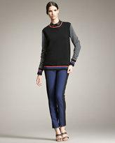 Jason Wu Colorblock Varsity Sweatshirt