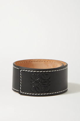 Loewe Embossed Leather Bracelet - Black