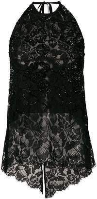 Stella McCartney sequin-embellished lace top