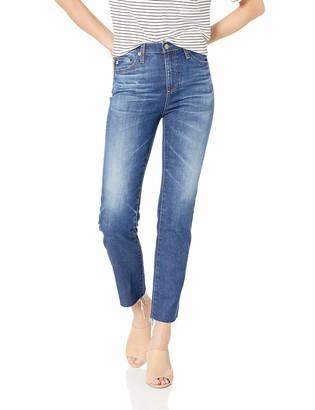 AG Jeans Women's Isabelle High-Rise Straight Leg Crop Jean