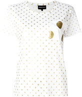 Emporio Armani dots print T-shirt - women - Cotton/Modal - 38
