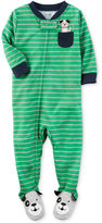 Carter's 1-Pc. Striped Dog Footed Pajamas, Baby Boys (0-24 months)