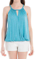 Max Studio by Leon Max JERSEY BRAIDED HALTER NECK TOP