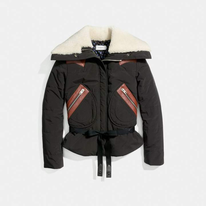 Coach New YorkCoach Puffer Jacket With Shearling