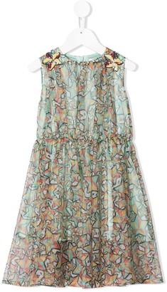Elisabetta Franchi La Mia Bambina star print dress