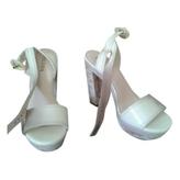Prada White Patent leather Heels