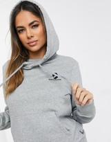 Converse Star Chevron logo grey hoodie