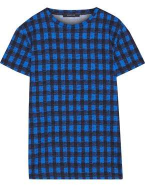 Derek Lam Checked Cotton-jersey T-shirt