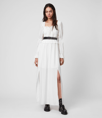 AllSaints Kimi Silk Blend Dress
