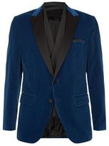 BOSS Velvet Evening Jacket With Scarf