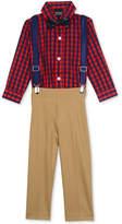 Nautica 4-Pc. Bowtie, Suspenders, Shirt & Pants Set, Baby Boys