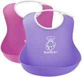 BABYBJÖRN Soft Bib - Pink/Purple - 2 ct
