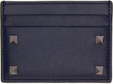 Valentino Navy Big Rockstud Card Holder