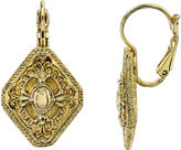 JCPenney 1928 Jewelry Marquise-Shaped Gold-Tone Earrings