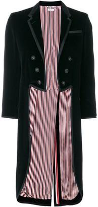 Thom Browne Tonal Grosgrain-tipped Tailcoat In Velvet