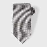 Paul Smith Men's Black And Sky Blue Thin-Stripe Silk Tie