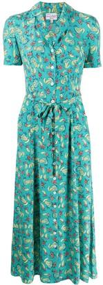 HVN Fruit-Print Collared Dress