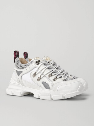 Gucci Flashtrek Rubber, Leather, Mesh And Suede Sneakers