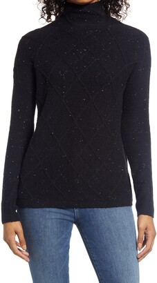 Caslon Cowl Neck Pointelle Sweater
