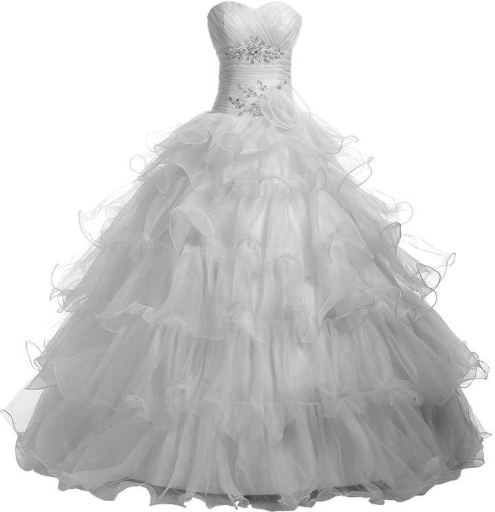 Sunvary Sweetheart Ball Gown Organza Holiday Party Dress Prom Dress Long Size