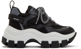 Prada Black and White Chunky Sneakers