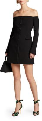 Dolce & Gabbana Off-the-Shoulder Crepe Dress