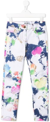 MOSCHINO BAMBINO Abstract Print Jeans