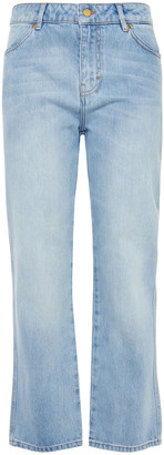 Victoria Victoria Beckham Cropped High-rise Straight-leg Jeans