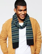 Original Penguin Fairisle Wool Scarf