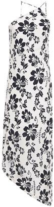 ALEXACHUNG Asymmetric Floral-print Woven Dress