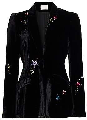 Cinq à Sept Women's Estelle Embellished Velvet Blazer