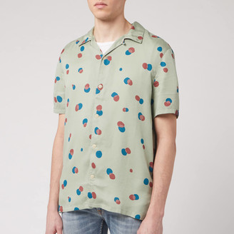 Nudie Jeans Men's Arvid Random Dots Short Sleeve Shirt