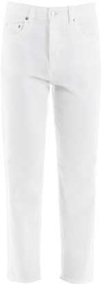 MSGM Cropped Jeans With Back Logo