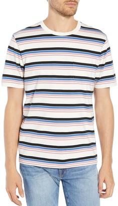 Frame Slim Fit Stripe Pocket T-Shirt