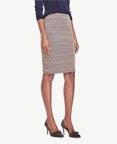 Ann Taylor Scalloped Jacquard Pencil Skirt
