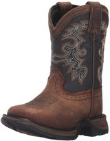 "Durango Western Boot Boys 8"" Raindrop Cowboy Heel Tan DWBT048"
