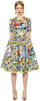 Dolce & Gabbana Maiolica Printed Silk Organza Dress