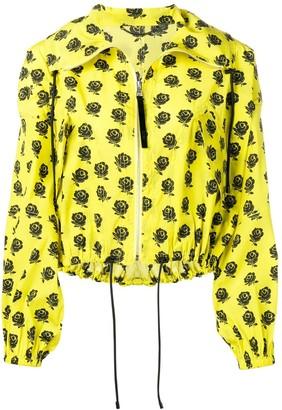 Kenzo Rose Print Bomber Jacket