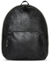 Stella McCartney black falabella shaggy deer mini backpack