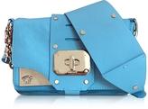 Versace Stardust Turquoise Leather Mini Shoulder Bag