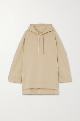 HOLZWEILER Sissel Oversized Embroidered Cotton-jersey Hoodie - Beige