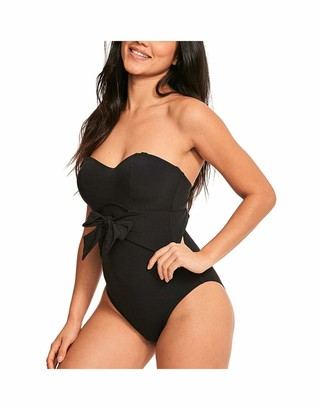 Figleaves Womens Icon Sienna Swimsuit Size 34F in Black