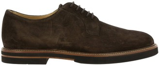 Tod's Tods Brogue Shoes Tods Lace-up Derby Shoes In Suede With Rubber And Leather Bottom