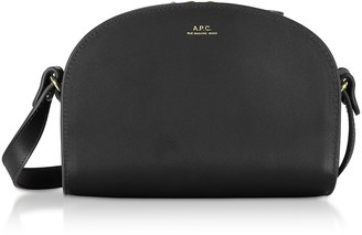 A.P.C. Genuine Leather Half Moon Mini Shoulder Bag
