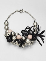 Marc by Marc Jacobs Bead, Bolt & Ribbon Cluster Necklace